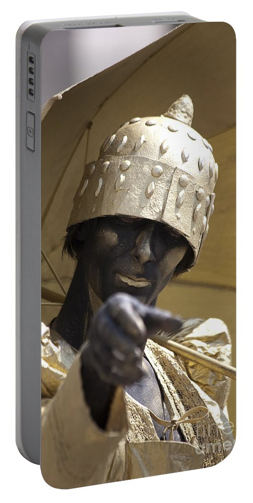 People Portable Battery Charger featuring the photograph Living Statue by Heiko Koehrer-Wagner