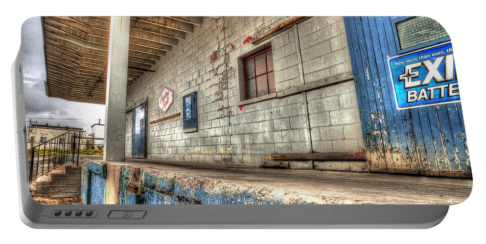 Acrylic Prints Portable Battery Charger featuring the photograph Loading Dock by John Herzog