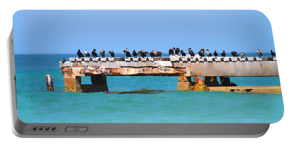 Coquina Portable Battery Charger featuring the photograph Local Hangout by Betsy Knapp