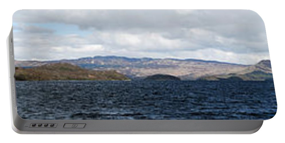 Scotland Portable Battery Charger featuring the photograph Loch Lomond - Pano2 by Nick Field