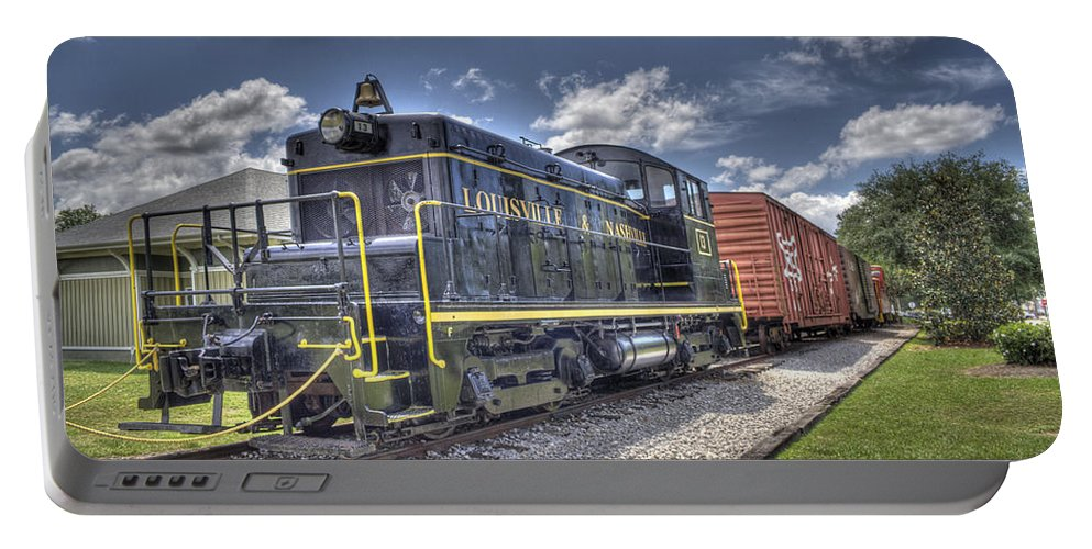Locomotive Portable Battery Charger featuring the photograph Locomotive II by David Troxel