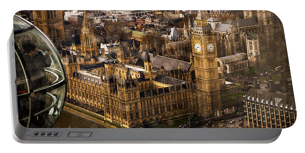 Big Ben Portable Battery Charger featuring the photograph London From The London Eye by Beth Riser