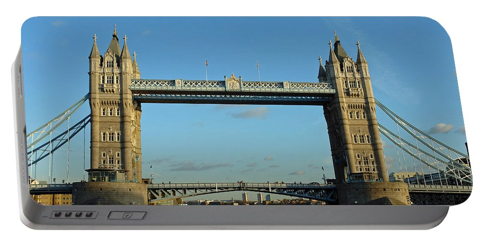 London Portable Battery Charger featuring the photograph London Tower Bridge Looking Magnificent In The Setting Sun by Ashish Agarwal