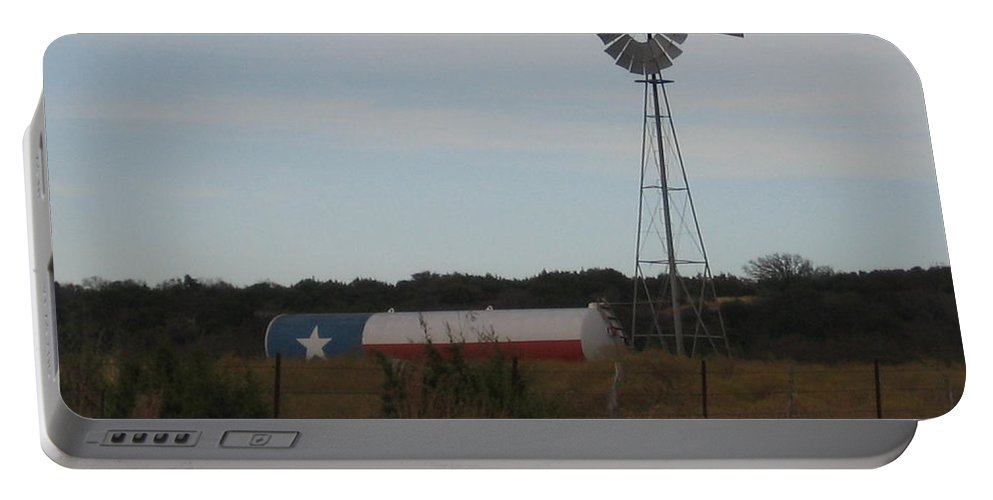 Portable Battery Charger featuring the photograph Lone Star by Amy Hosp