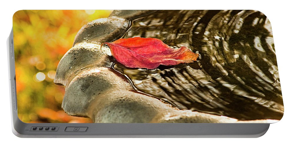 Leaf Portable Battery Charger featuring the photograph Lonely Fall by Carolyn Marshall