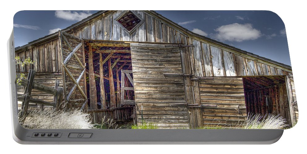 Barn Portable Battery Charger featuring the photograph Long Barn by Jean Noren