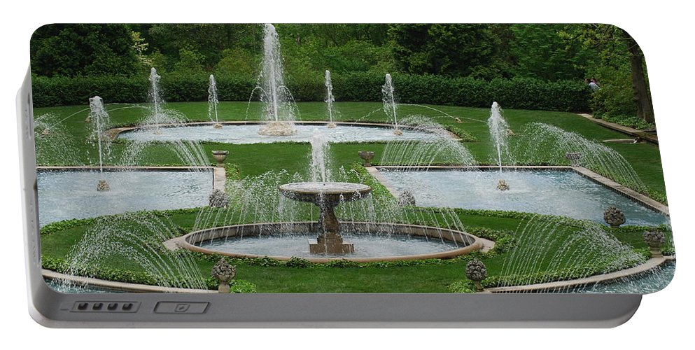 Fountain Portable Battery Charger featuring the photograph Longwood Fountains 3 by Richard Bryce and Family