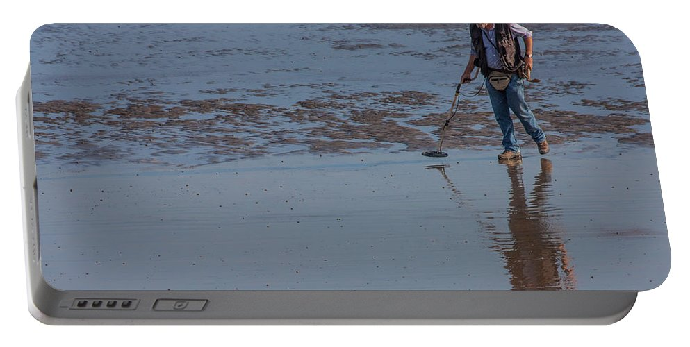 Beach Portable Battery Charger featuring the photograph Looking For Treasure by Dawn OConnor