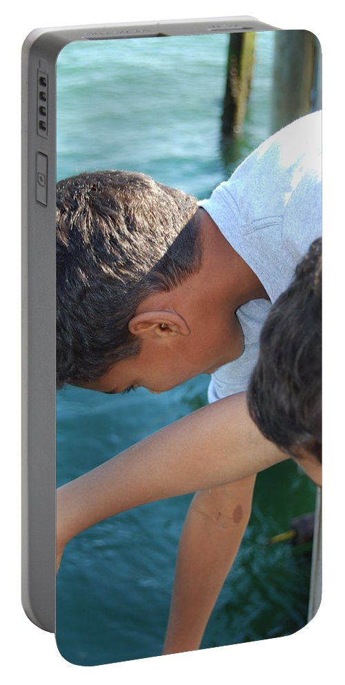 Boys Portable Battery Charger featuring the photograph Looking For Treasures Ltp by Jim Brage
