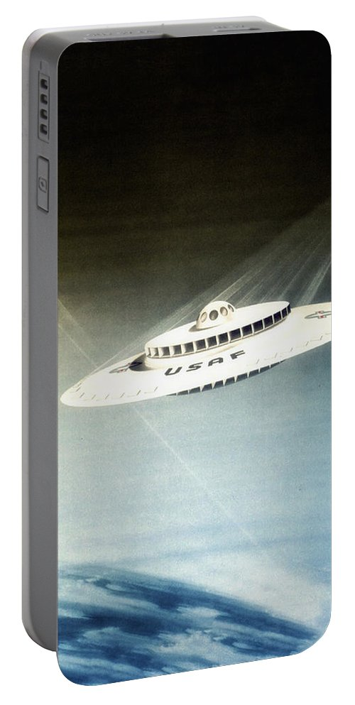 Lost In Space Portable Battery Charger featuring the digital art Lost In Space by Bill Cannon
