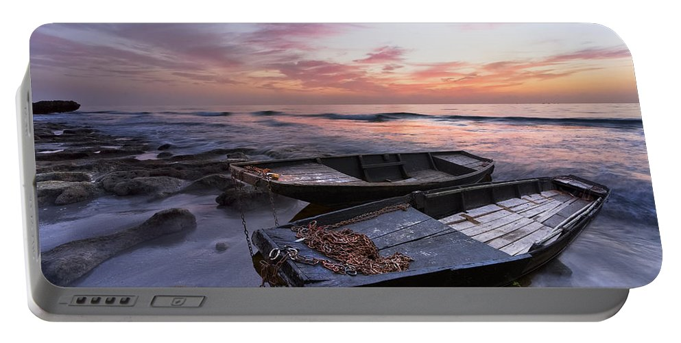 Boats Portable Battery Charger featuring the photograph Lost Sailors by Debra and Dave Vanderlaan