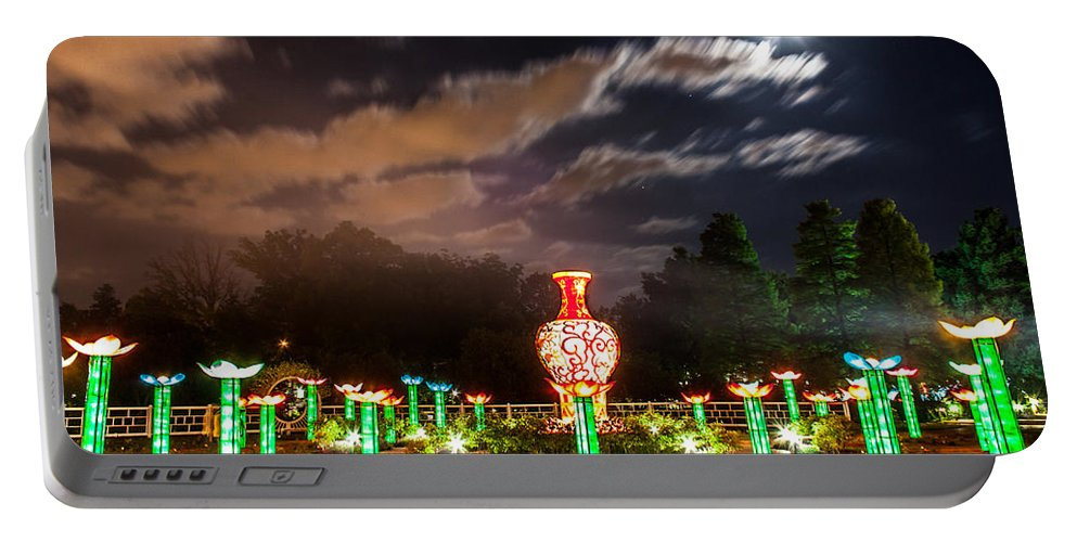 Art Portable Battery Charger featuring the photograph Lotus Ponds by Semmick Photo