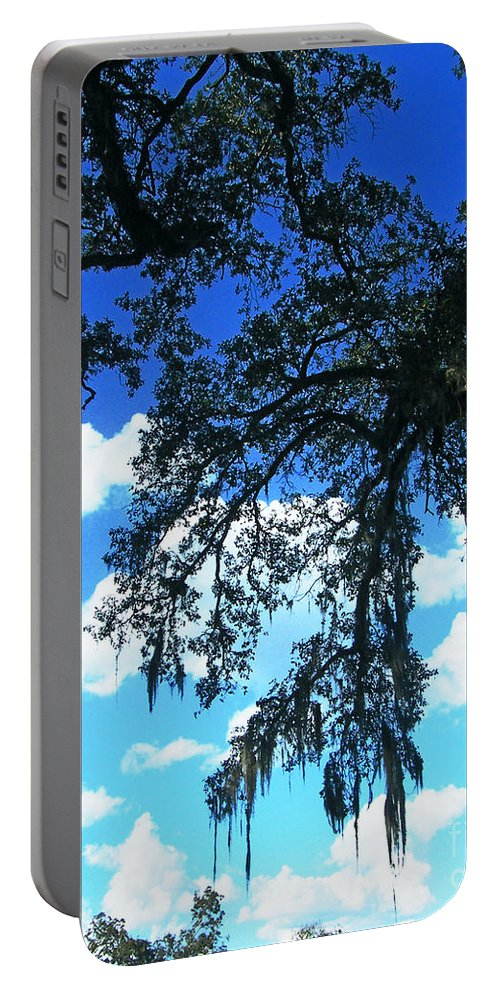 Spanish Moss Portable Battery Charger featuring the photograph Louisiana Skyscape by Lizi Beard-Ward