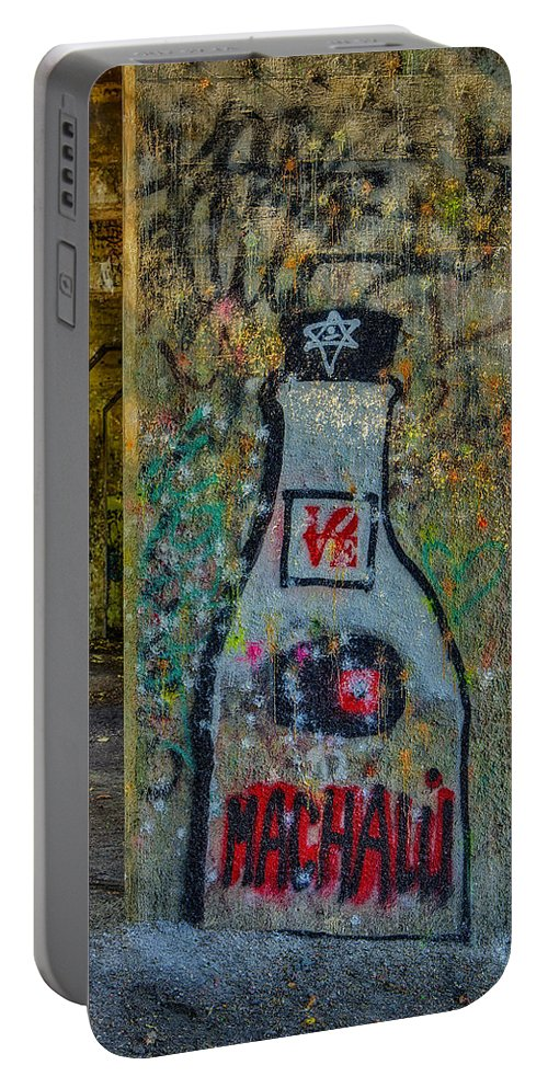 Graffiti Portable Battery Charger featuring the photograph Love Graffiti by Susan Candelario