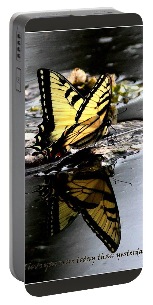 Love Portable Battery Charger featuring the photograph Love You More - Love by Travis Truelove