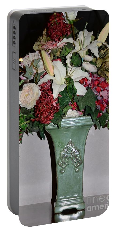 Vase Portable Battery Charger featuring the photograph Lovely Floral Arrangement by Kathleen Struckle