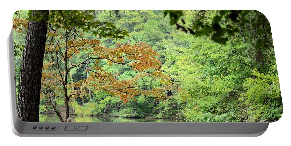 Loving Portable Battery Charger featuring the photograph Loving The Season Of Autumn by Maria Urso