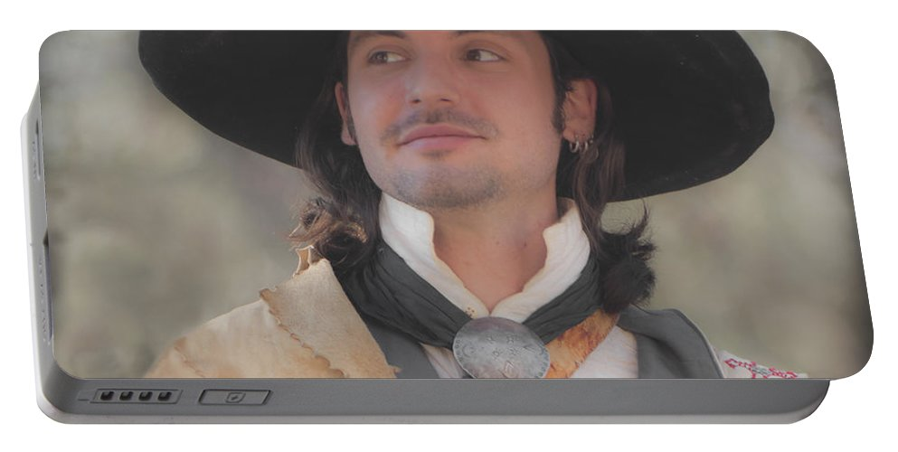 Reenactor Portable Battery Charger featuring the photograph Loving This by Kim Henderson