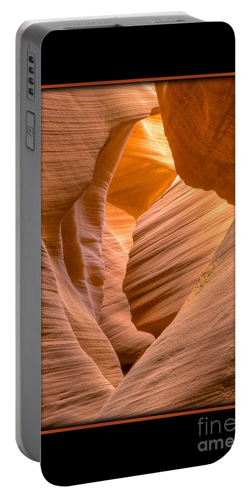 Antelope Canyon Portable Battery Charger featuring the photograph Lower Canyon 17 by Larry White
