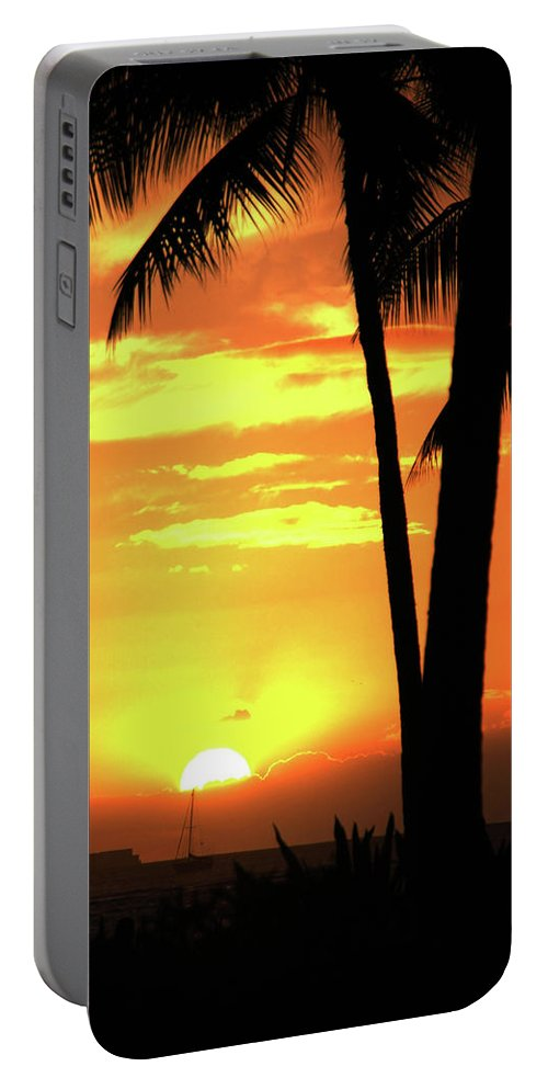 Hawaii Portable Battery Charger featuring the photograph Luau Sunset by Dan McManus