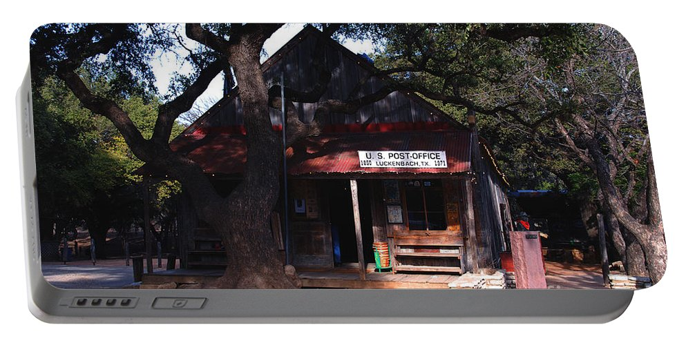 Luckenbach Portable Battery Charger featuring the photograph Luckenbach Texas - II by Susanne Van Hulst