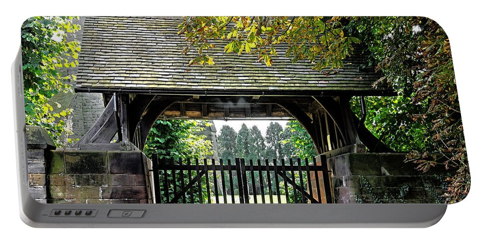 Scropton Portable Battery Charger featuring the photograph Lychgate To St Paul's Church - Scropton by Rod Johnson