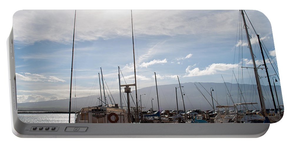 Interior Design Portable Battery Charger featuring the photograph Ma'alaea Marina by Paulette B Wright