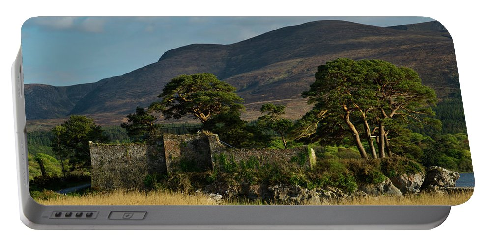 Kilarney Portable Battery Charger featuring the photograph Maccarthy Mor Castle Ireland by Douglas Barnett