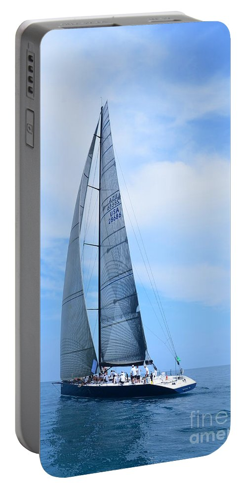 Sailboat Portable Battery Charger featuring the photograph Mackinac Race by Randy J Heath