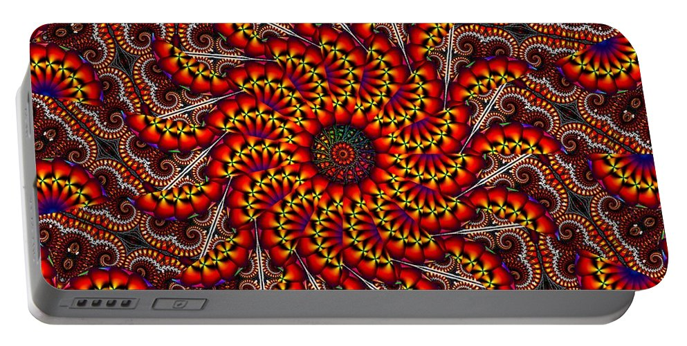 Wild Portable Battery Charger featuring the digital art Mad Love by Robert Orinski