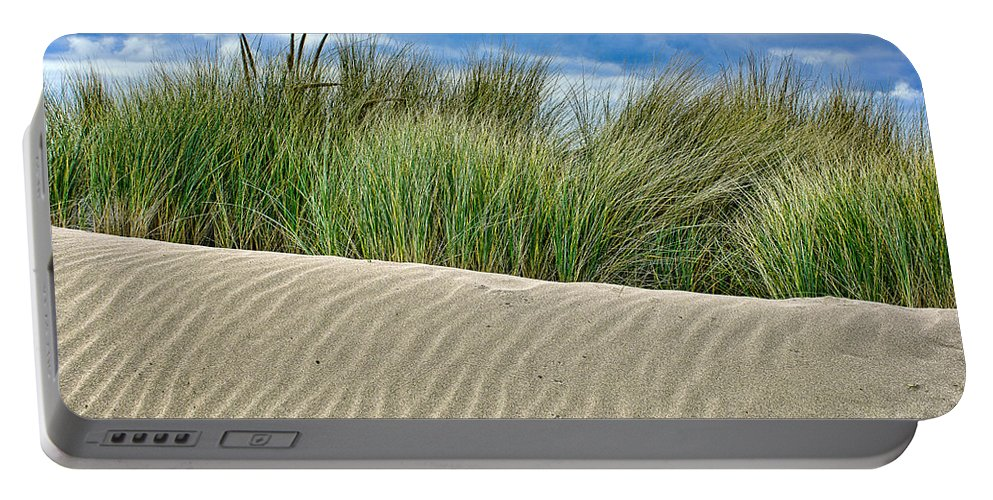 Landscape Portable Battery Charger featuring the photograph Mad River Dune by Greg Nyquist