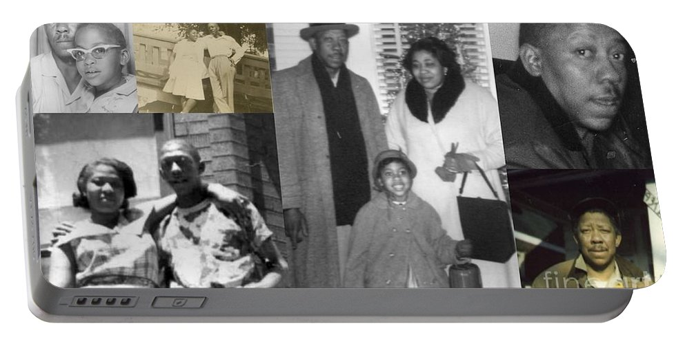 Portable Battery Charger featuring the photograph Madge Walker And Her Husband by Angela L Walker