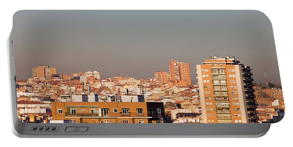 Madrid Portable Battery Charger featuring the photograph Madrid Cityscape by Artur Bogacki
