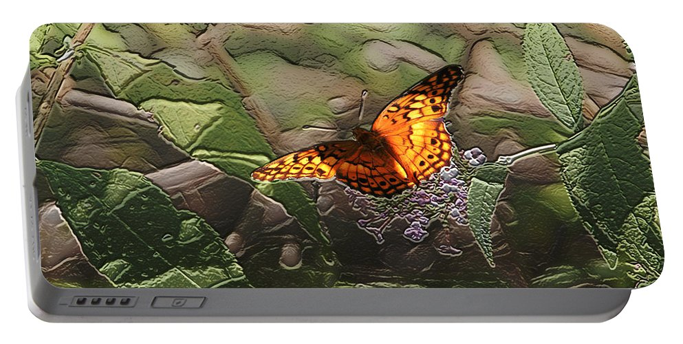 Butterfly Portable Battery Charger featuring the photograph Magical Places For Butterflies by Ericamaxine Price