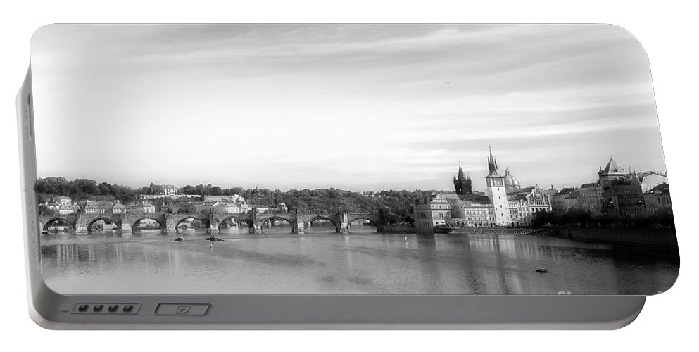 Photograph Portable Battery Charger featuring the photograph Magical Prague by Ivy Ho