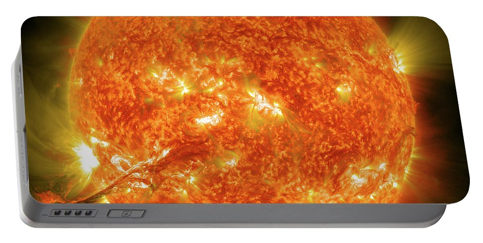 Color Image Portable Battery Charger featuring the photograph Magnificent Coronal Mass Ejection by Stocktrek Images