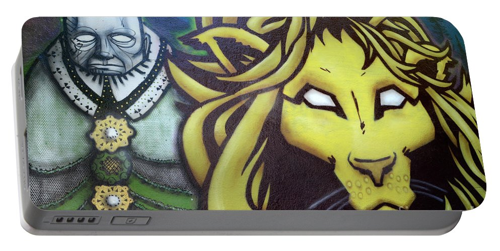 Graffiti Portable Battery Charger featuring the photograph Man And Beast by Bob Christopher