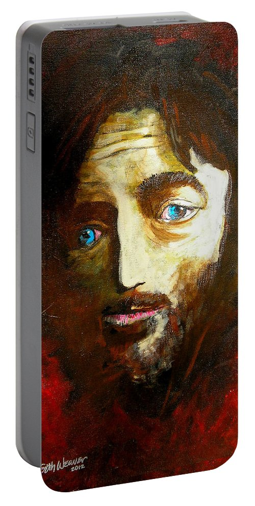 Man From Nazareth Portable Battery Charger featuring the painting Man From Nazareth by Seth Weaver