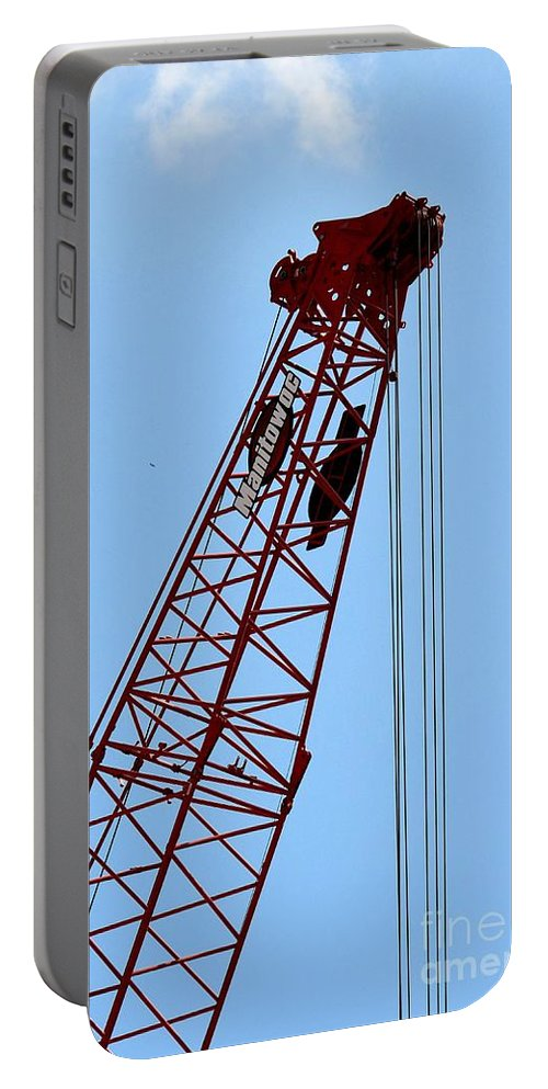 Manitowoc Skies Portable Battery Charger featuring the photograph Manitowoc Skies by Maria Urso