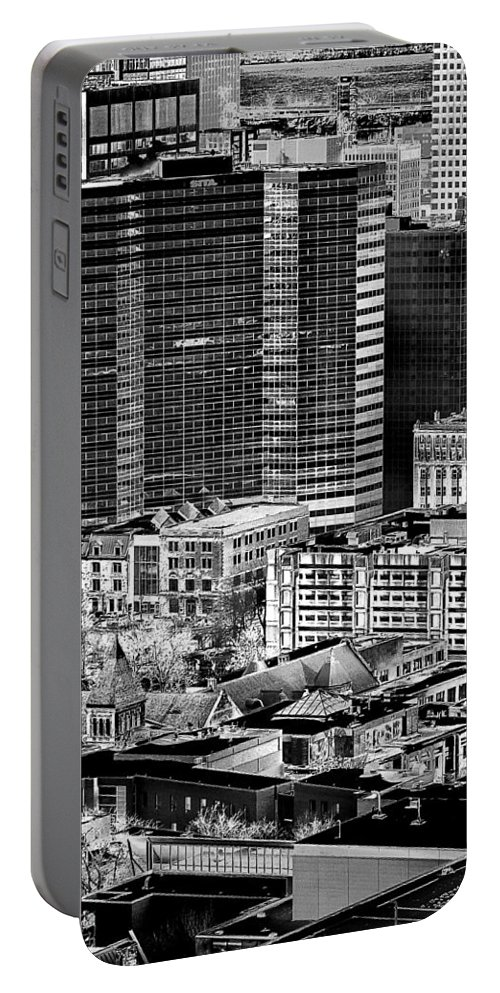 Urban Scene Portable Battery Charger featuring the photograph Manmade by Burney Lieberman