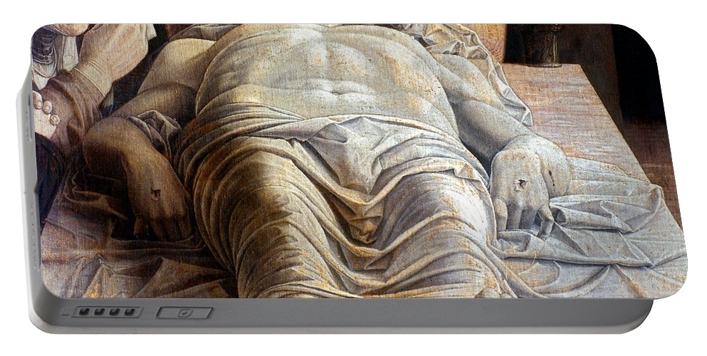 15th Century Portable Battery Charger featuring the photograph Mantegna: The Dead Christ by Granger
