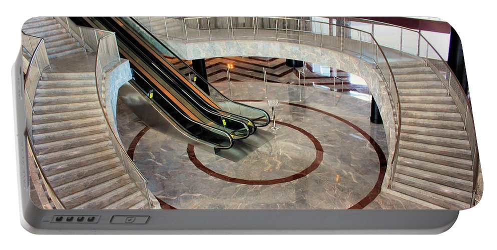 Staircase Portable Battery Charger featuring the photograph Marble Staircases by Kristin Elmquist