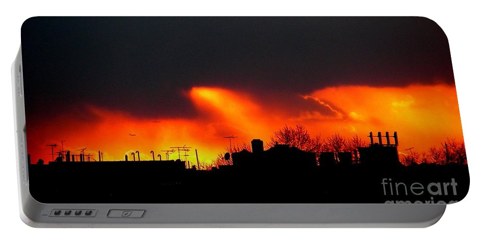 Sunset Portable Battery Charger featuring the photograph March 1 2008 by Mark Gilman