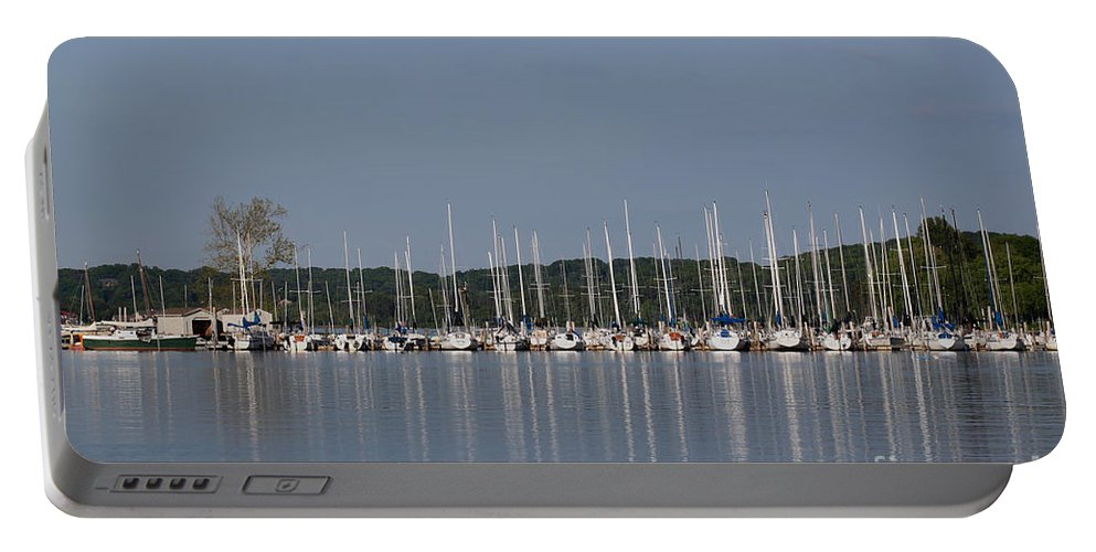 Seascape Portable Battery Charger featuring the photograph Marina by Todd Blanchard