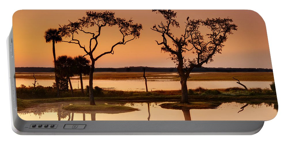 Beaufort County Portable Battery Charger featuring the photograph Marsh Morning by Phill Doherty