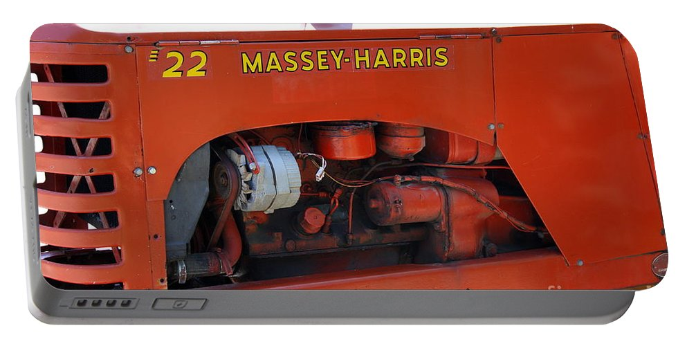 Massey Harris Portable Battery Charger featuring the photograph Massey Harris Details by Christiane Schulze Art And Photography
