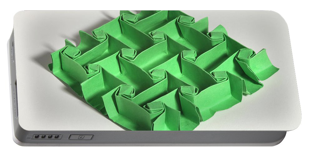 Origami Portable Battery Charger featuring the photograph Mathematical Origami by Ted Kinsman