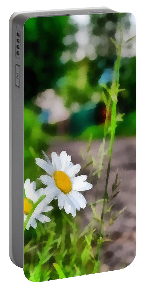 Art Portable Battery Charger featuring the photograph Matricaria by Michael Goyberg