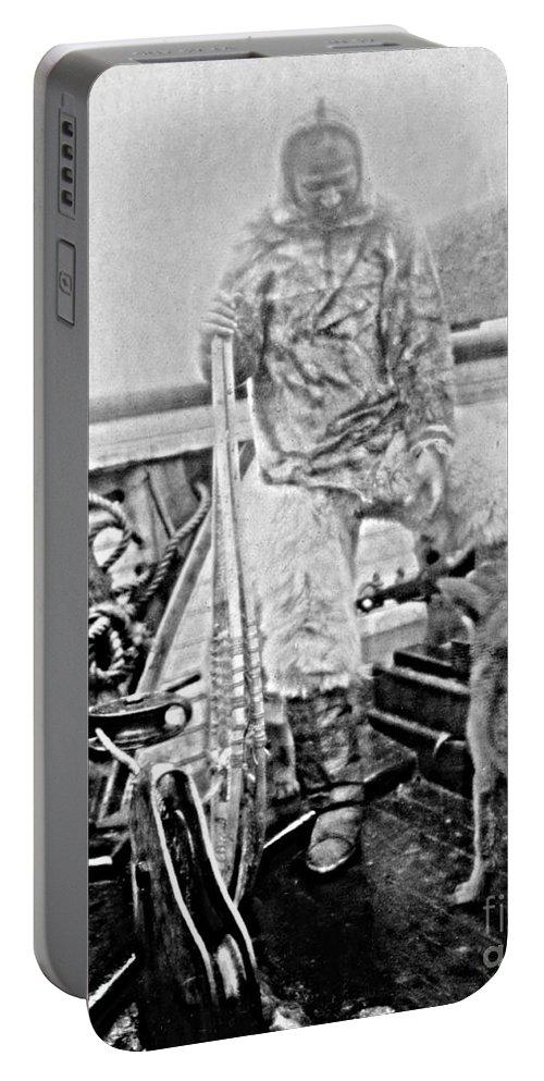 History Portable Battery Charger featuring the photograph Matthew Henson, African-american by Photo Researchers
