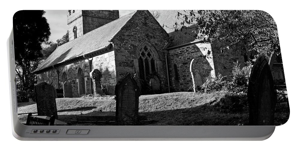Lynch Gate Portable Battery Charger featuring the photograph Mawnan Smith Parish Church by Brian Roscorla